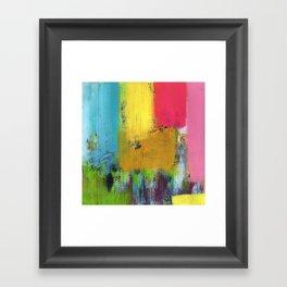 Sunny Rain Fall Framed Art Print