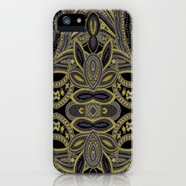Paisley 5 Gold iPhone Case