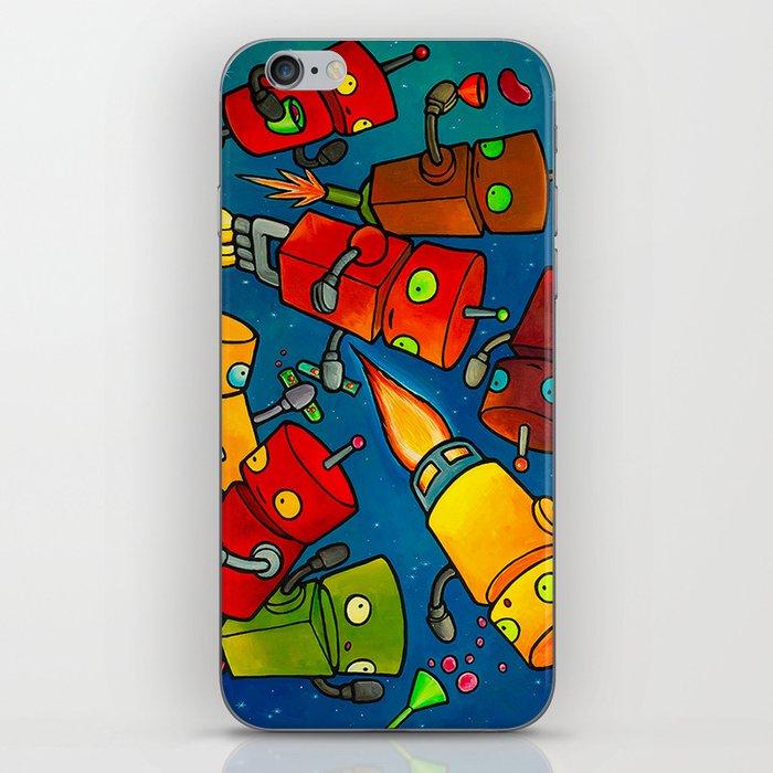 Robot - Robot Party 2 (Zero Gravity) iPhone Skin