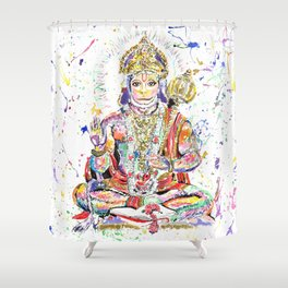 Hanuman Hindu God in the form of a monkey Shower Curtain