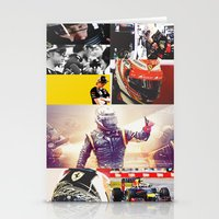 formula 1 Stationery Cards featuring Formula 1 Collage by Rassva
