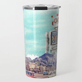Robot in Town Travel Mug
