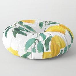 yellow lemon 2018 Floor Pillow