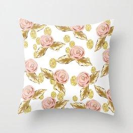 Pink n Gold Throw Pillow