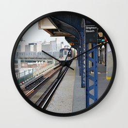 Brighton Beach Arrival Wall Clock