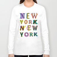 new york Long Sleeve T-shirts featuring New York New York by Fimbis