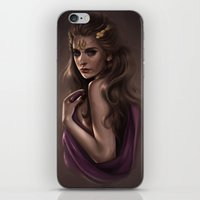 caleb troy iPhone & iPod Skins featuring Cassandra - Princess of Troy by KlsteeleArt