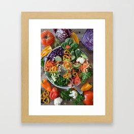 Vegan summer II Framed Art Print