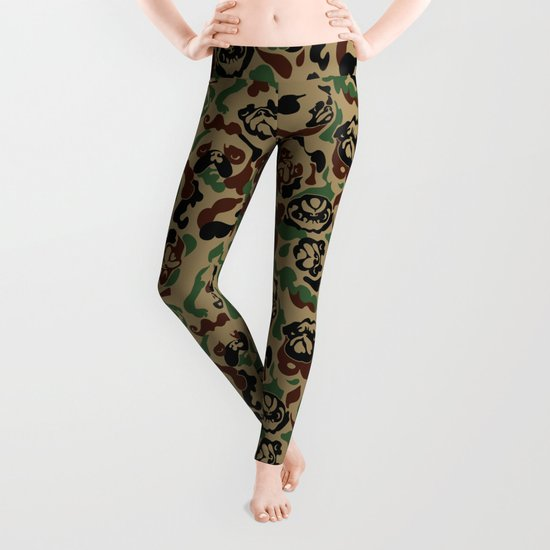Pug Camouflage Leggings