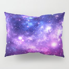 Purple Blue Galaxy Nebula Pillow Sham