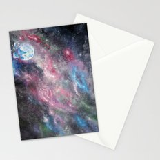 Space and the Moon Stationery Cards