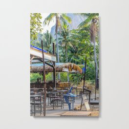 Thailand Tiki Bar Metal Print
