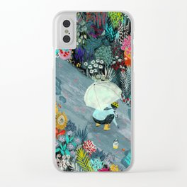 Rainworms Clear iPhone Case