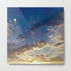 Sunset Over Compton Metal Print