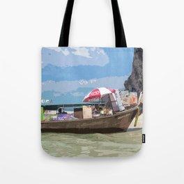 Thai Long Boat Tote Bag