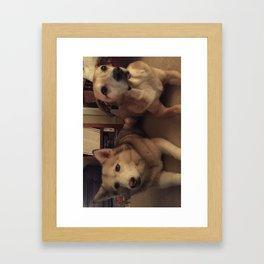 bj phone Framed Art Print