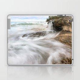 Elliot Falls on Miners Beach - Pictured Rocks, Michigan Laptop & iPad Skin