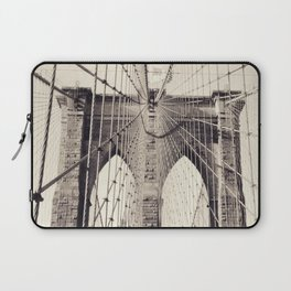 Brooklyn bridge, New York city, black & white photography, wall decoration, home decor, nyc fine art Laptop Sleeve