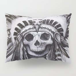 Native American Skull Pillow Sham