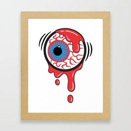 Bloody Eyeball Framed Art Print