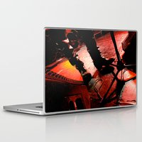 punk rock Laptop & iPad Skins featuring Punk Rock Boots and Wires by Ann Yoo