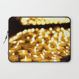 Prayer Candles in Church, Israel Laptop Sleeve