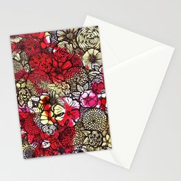 Yellow'n Red Flowers Stationery Cards