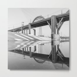 LA Bridge Metal Print