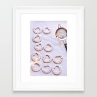 baking Framed Art Prints featuring Baking by Haley Parson