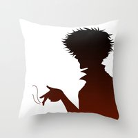 cowboy bebop Throw Pillows featuring Cowboy Bebop by AWAL