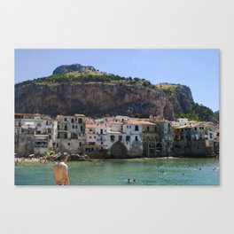 Cefalù Beach Canvas Print