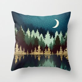 Star Forest Reflection Throw Pillow