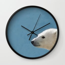 White Polar Bear Wall Clock