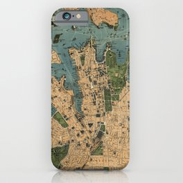Map of Sydney, Australia (1922) iPhone Case