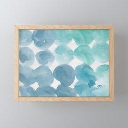 8   |  190408 Blue Abstract Watercolour Framed Mini Art Print