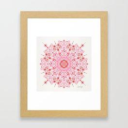 Moroccan Mandala – Valentine Palette Framed Art Print