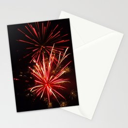 red bursts Stationery Cards