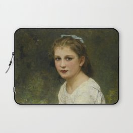 """William-Adolphe Bouguereau """"Young girl with grapes (Jeune fille aux raisins)"""" Laptop Sleeve"""