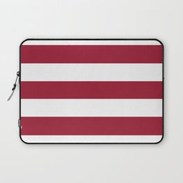 University of Alabama Crimson - solid color - white stripes pattern Laptop Sleeve