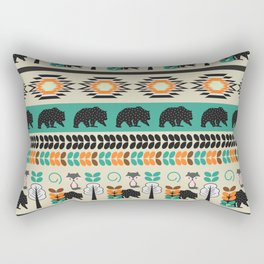 Native spirit with foxes and bears Rectangular Pillow