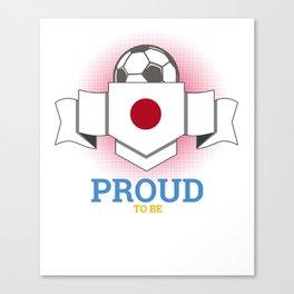 Football Japanese Japan Soccer Team Sports Footballer Goalie Rugby Gift Canvas Print