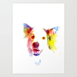 Welsh Border Collie Pop Art Art Print