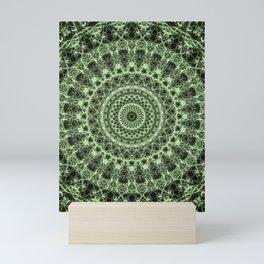 Pretty pastel green mandala Mini Art Print