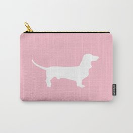 Pink Dachshund Silhouette Pattern Carry-All Pouch