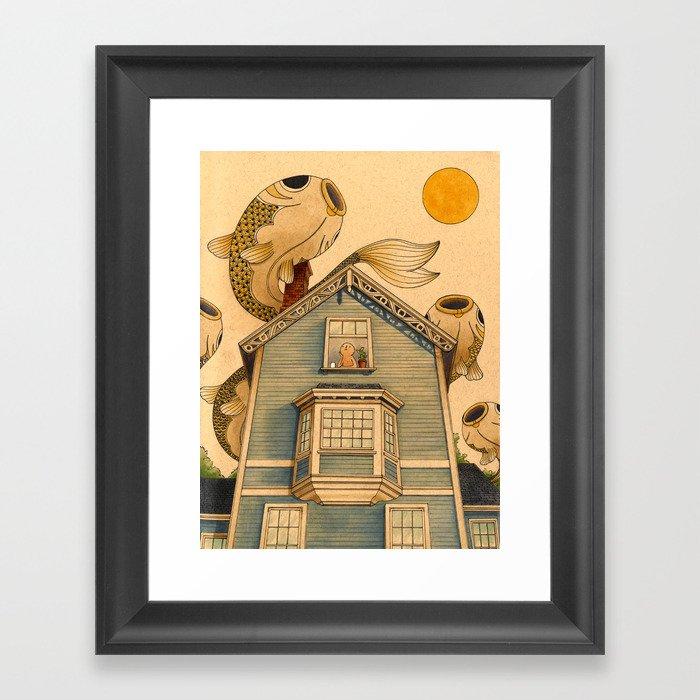 Fish Migration Gerahmter Kunstdruck