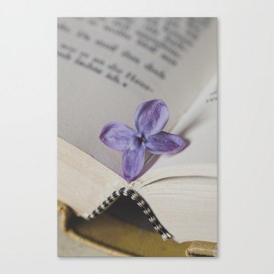 Lilac Bookmark Canvas Print