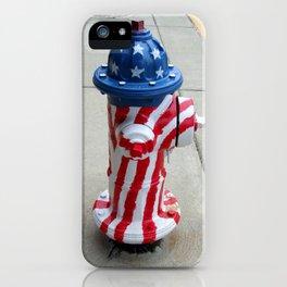 Patriotic Firehyradrant II iPhone Case