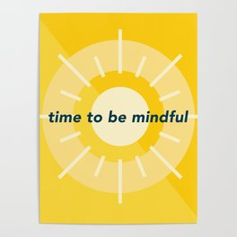 Mindfulness 'o' Clock Poster