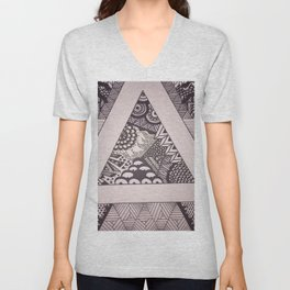 Triangle Sharpie Unisex V-Neck