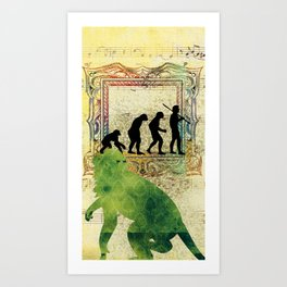 Chinese Lunar New Year and 12 animals  ❤  The MONKEY 猴 Art Print